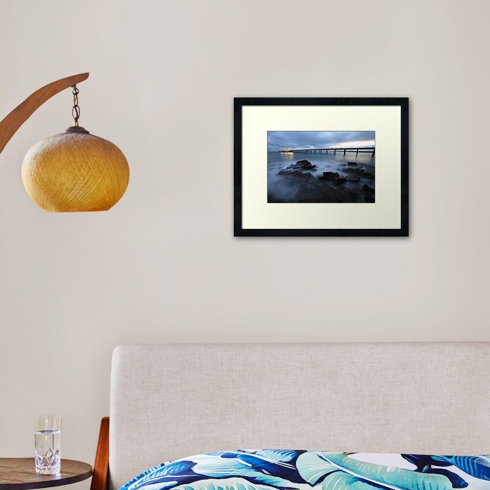 Lorne Pier Pre-Dawn, Great Ocean Road, Australia Framed Art Print