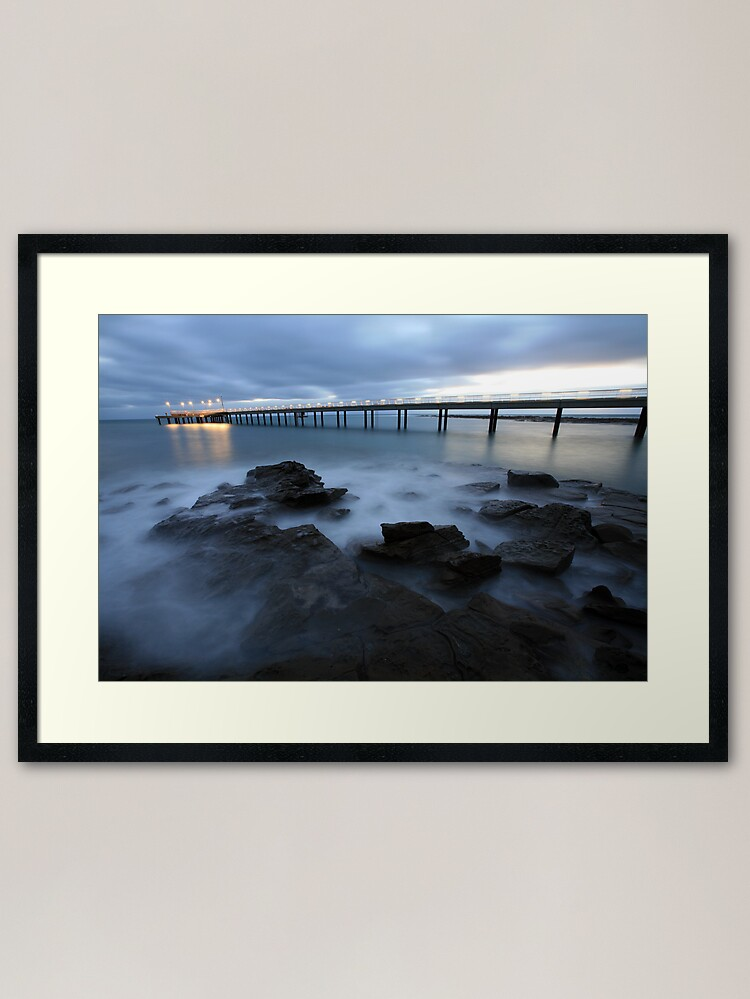 Alternate view of Lorne Pier Pre-Dawn, Great Ocean Road, Australia Framed Art Print
