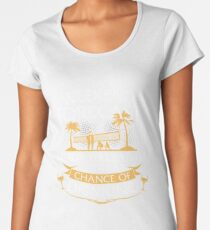Weekend Forecast Beach Volleyball With A Chance Of Drinking Women's Premium T-Shirt