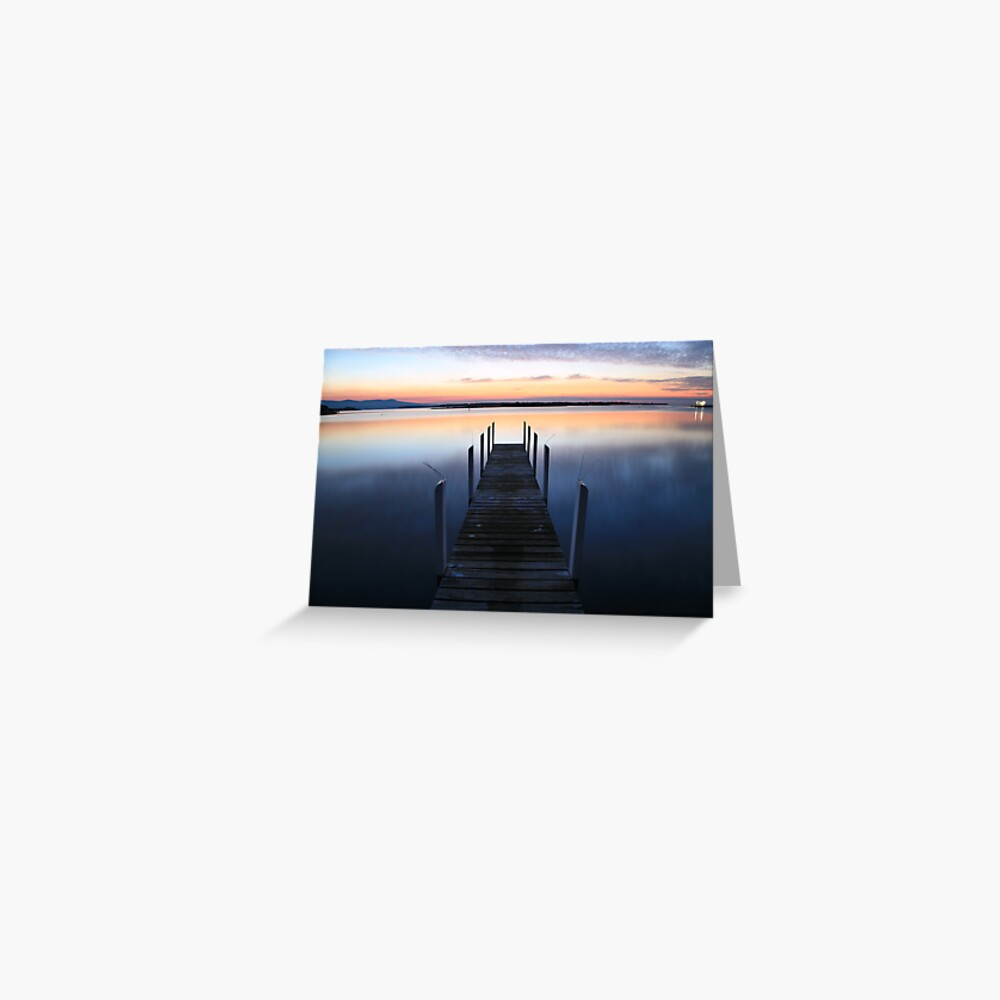 Fisherman's Paradise - Mallacoota before dawn, Australia Greeting Card