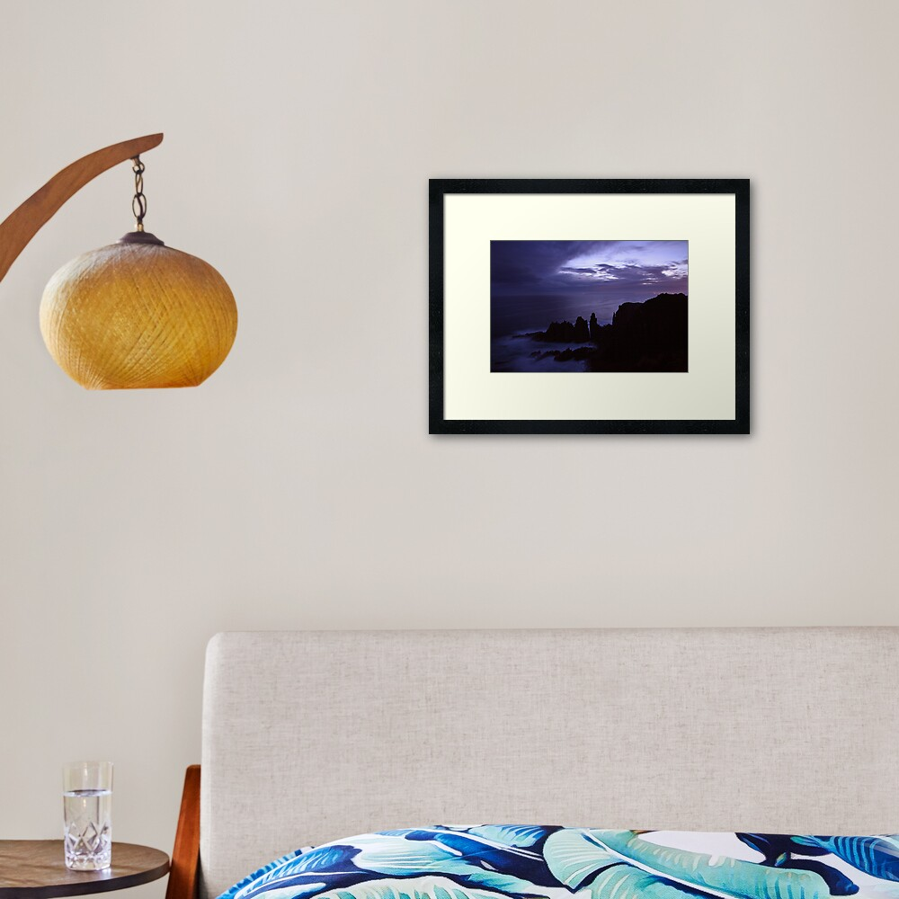 The Pinnacles at Dusk, Philip Island, Australia Framed Art Print