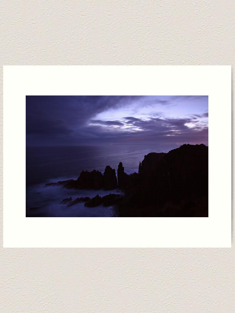 Alternate view of The Pinnacles at Dusk, Philip Island, Australia Art Print