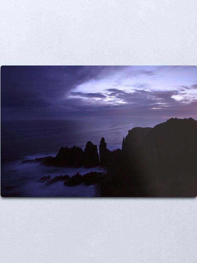 Alternate view of The Pinnacles at Dusk, Philip Island, Australia Metal Print