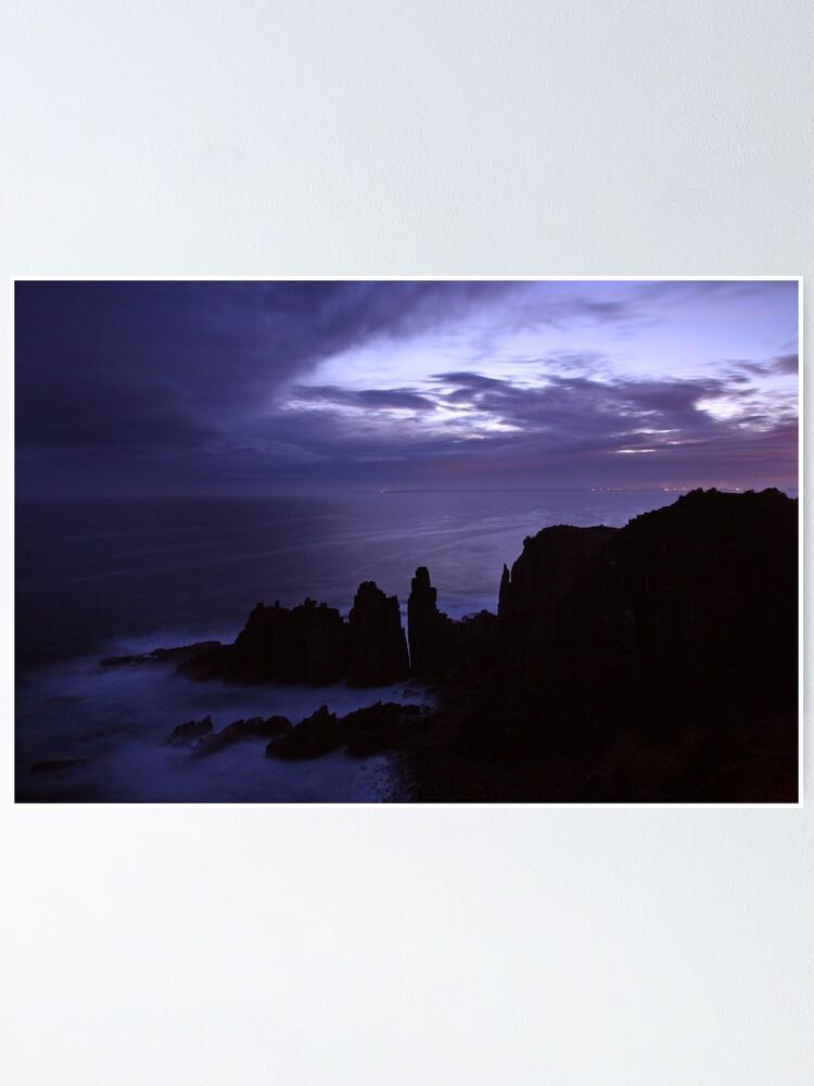 Alternate view of The Pinnacles at Dusk, Philip Island, Australia Poster