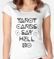 TAROT CARDS Women's Fitted Scoop T-Shirt