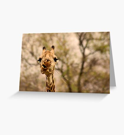 I SAID ...... DON'T TALK WITH FOOD IN YOUR MOUTH ! Greeting Card
