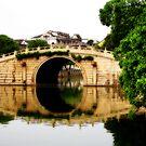 Bridge Over Serene Water by Steven  Siow