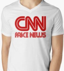 CNN Fake News Men's V-Neck T-Shirt