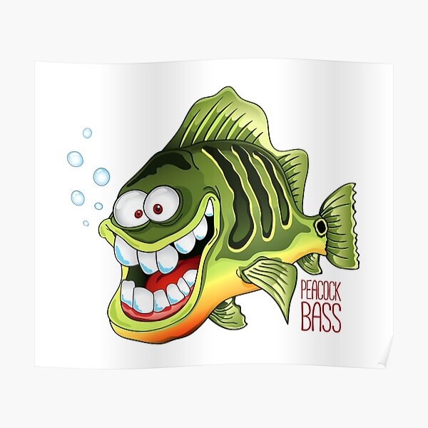 Happy Fish - Peacock Bass Poster