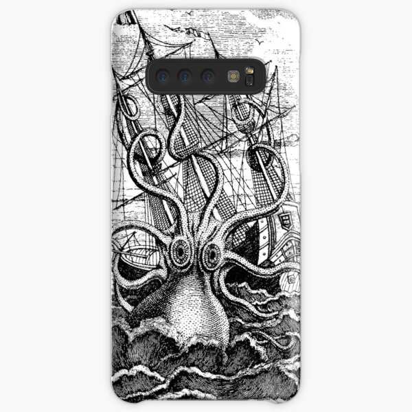 Vintage Kraken attacking ship illustration Samsung Galaxy Snap Case