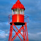 Small red lighthouse by Gaspar Avila