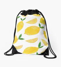 Cut + Paste Lemon Pattern Drawstring Bag
