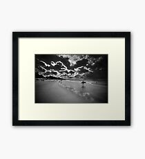 Black and White Interpretation Framed Print