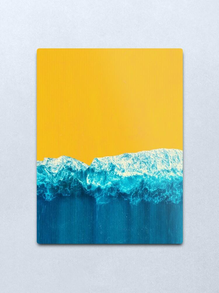 Alternate view of Yellow Tide Metal Print