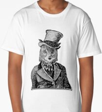 Owl Portrait | Black and White | No.1 of 2 from The Owl and the Pussycat Set Long T-Shirt