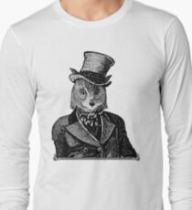 Owl Portrait | Black and White | No.1 of 2 from The Owl and the Pussycat Set Long Sleeve T-Shirt