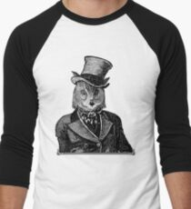 Owl Portrait | Black and White | No.1 of 2 from The Owl and the Pussycat Set Men's Baseball ¾ T-Shirt