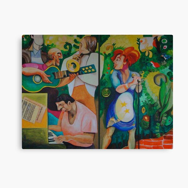 Music garden Canvas Print