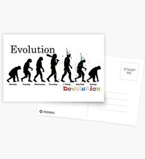 Party Evolution Postcards