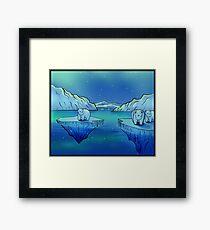 Polar Bears and the Northern Lights Framed Print