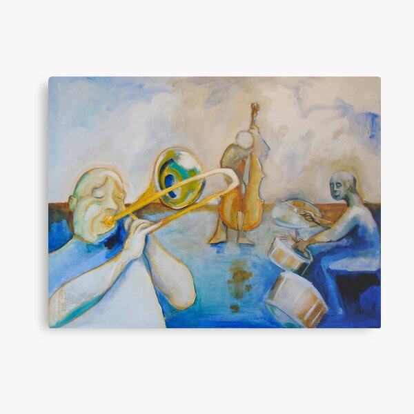Blue jazz Metal Print