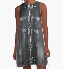 futurism, victorian style, victorian style art, bondage, steampunk bondage A-Line Dress