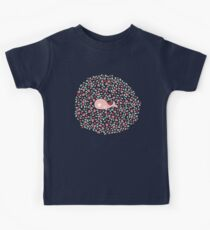 Whimsical Pink Pregnant Mommy Whale With Baby Kids Tee