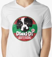 Dinki Di Dog Food Men's V-Neck T-Shirt