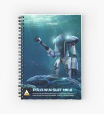 P.R.A.W.N SUIT (Sea) Spiral Notebook
