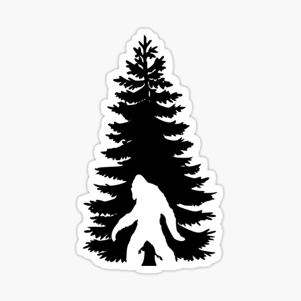 Hiding Bigfoot Sticker