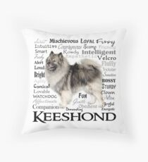 Keeshond Traits Throw Pillow