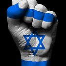 Flagge von Israel auf einer angehobenen geballten Faust von jeff bartels