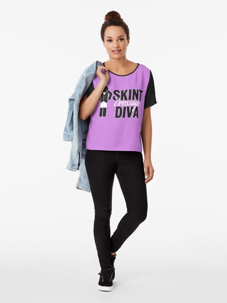 Alternate view of Skint Dressage Diva - Pink Chiffon Top
