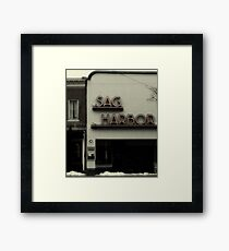 Sag Harbor Cinema II Framed Print