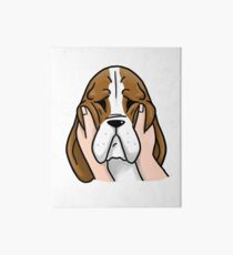 Funny Chubby Cheeks Basset Hound Art Board