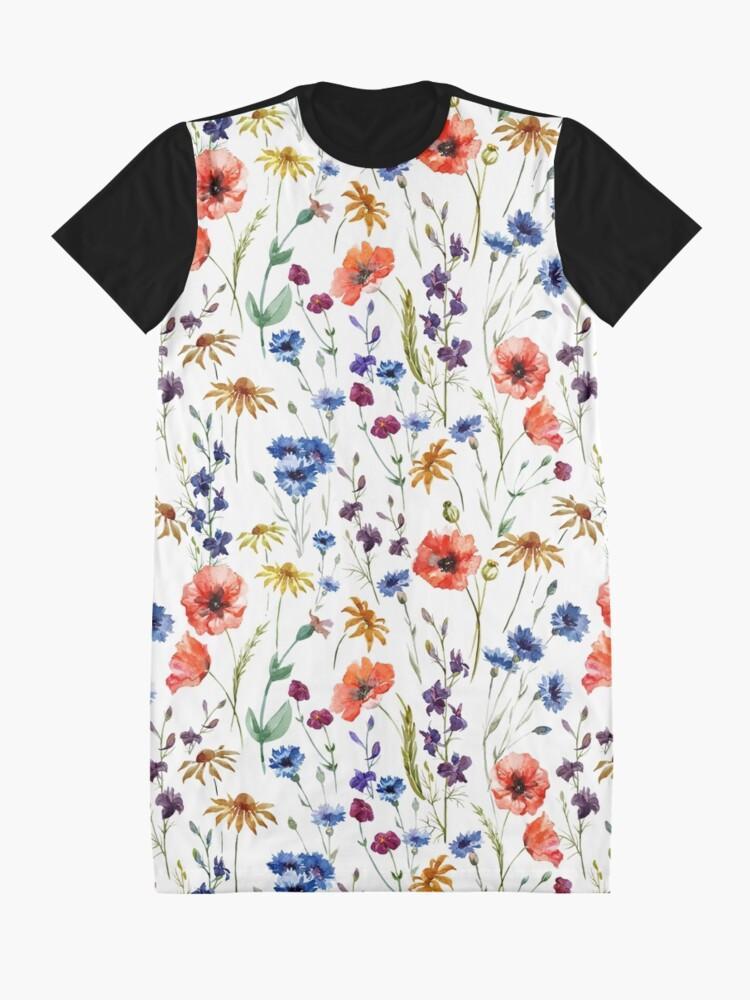 Alternate view of Wildflowers Pattern Graphic T-Shirt Dress