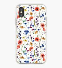 Wildflowers Pattern iPhone Case