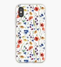 Wildflowers Pattern iPhone Case