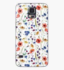 Wildblumen Muster Hülle & Klebefolie für Samsung Galaxy