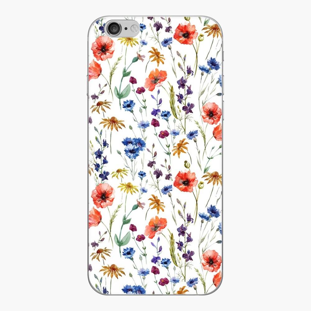 Wildflowers Pattern iPhone Skin