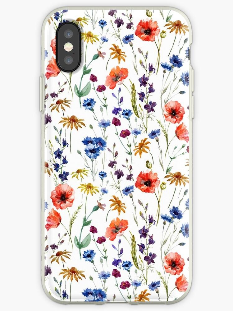 «Patrón de flores silvestres» de junkydotcom