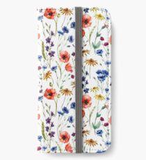 Vinilo o funda para iPhone Patrón de flores silvestres
