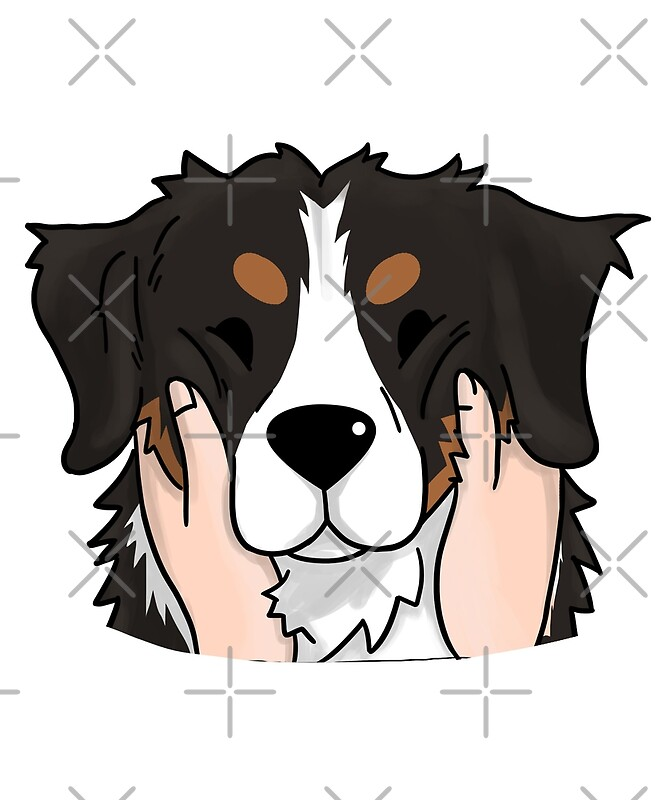 Top Bernese Mountain Dog Chubby Adorable Dog - flat,800x800,070,f  Graphic_247171  .jpg