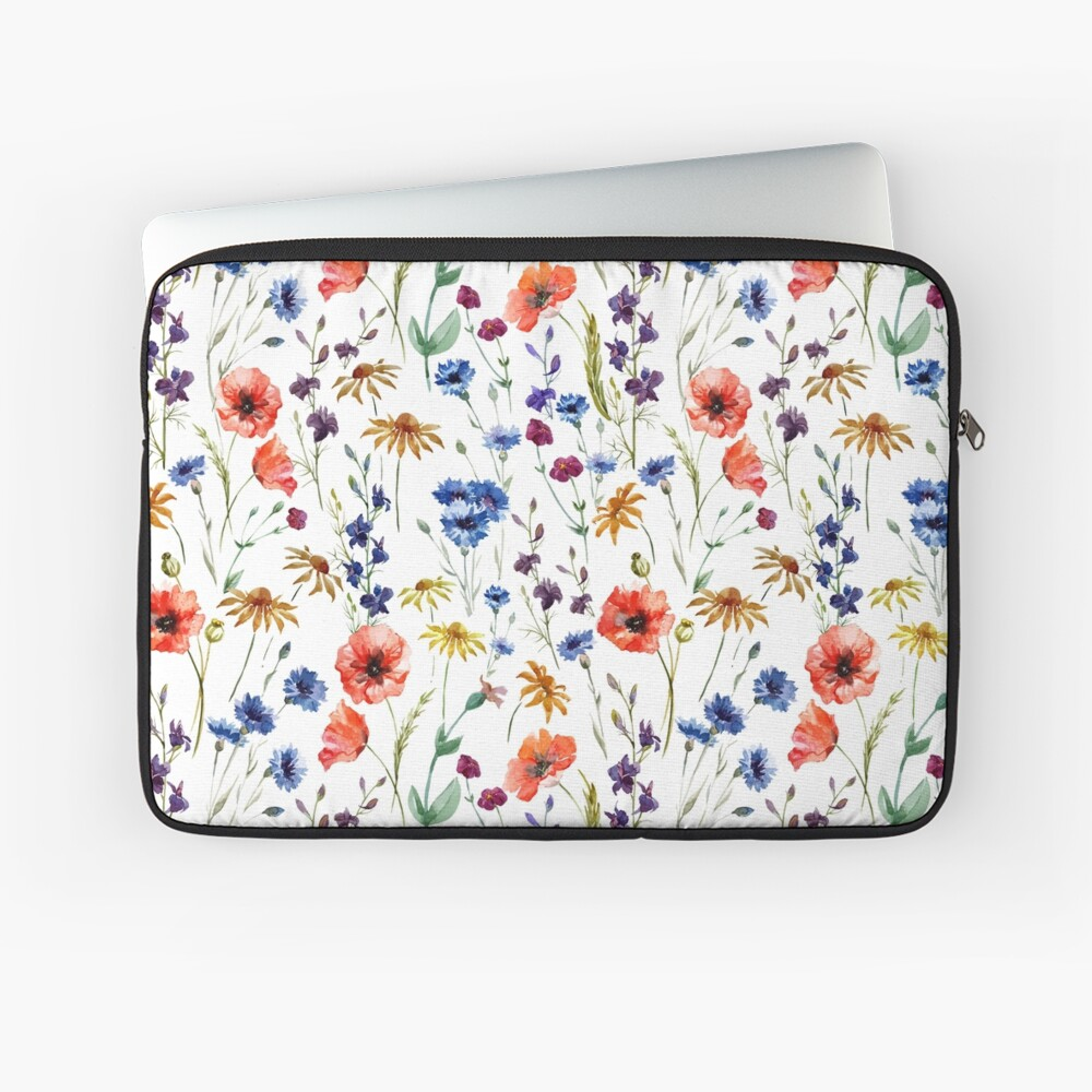 Wildflowers Pattern Laptop Sleeve