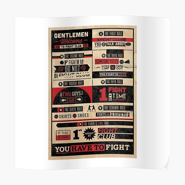 FIGHT CLUB: RULES Poster