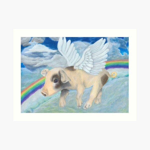 And pigs might fly... Art Print