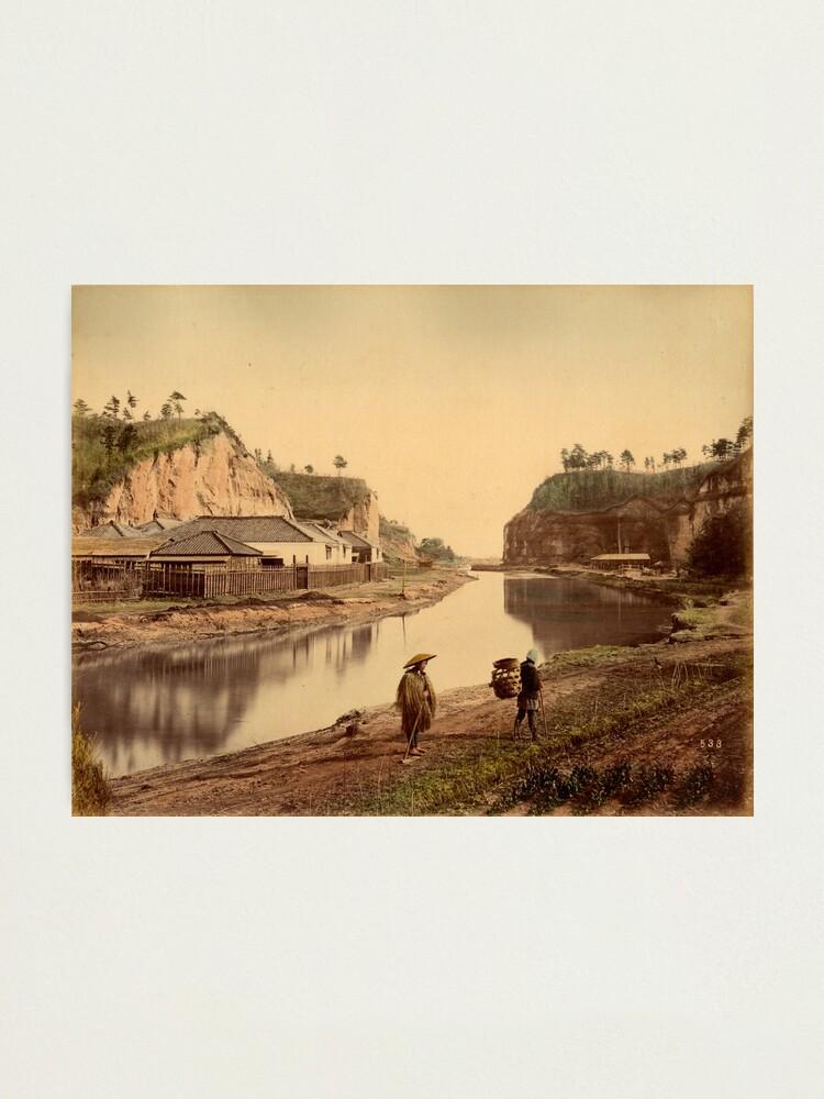 Alternate view of Horiwarikawa canal, Yokohama, Japan, 1880s Photographic Print