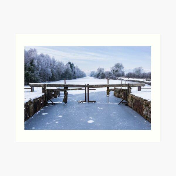 Frozen Ulverston Canal 2010 Art Print