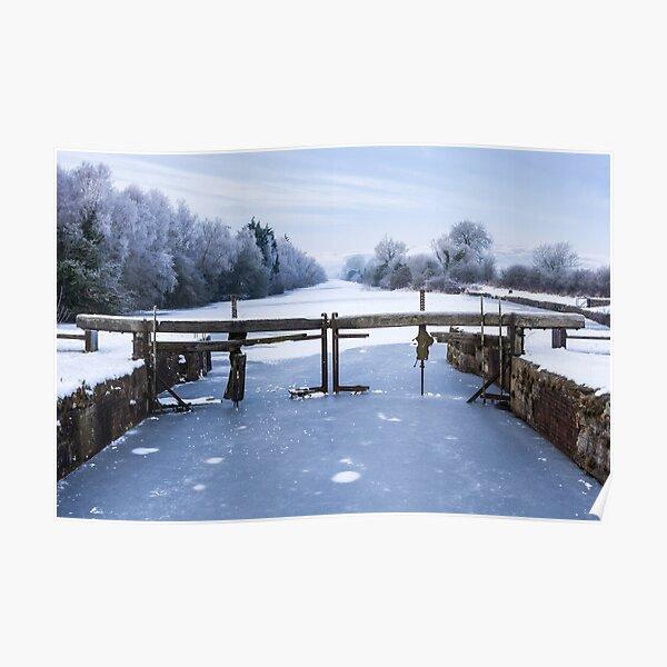 Frozen Ulverston Canal 2010 Poster