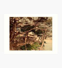 Hommoku tea house Art Print